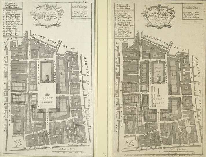 A MAPP of the Parish of St PAULS COVENT GARDEN taken from the last Survey